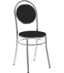 conjunto 2 cadeiras 190 napa móveis carraro preto