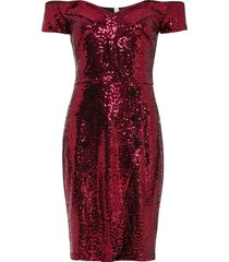 abito con cut-out e paillettes (rosso) - bodyflirt boutique