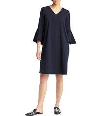 holly bell-sleeve shift dress