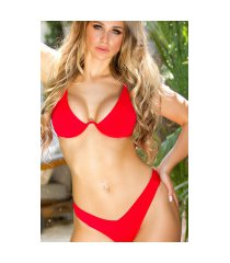 sexy brazilian onderbeugel bikini rood