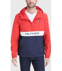 chaqueta tommy hilfiger popover - colorblock multicolor - calce regular