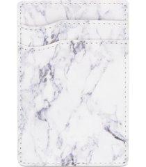bespoke men's marble-print adhesive card case