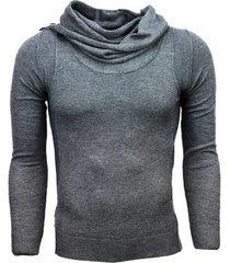 trui tony backer casual trui - trendy sjaalkraag -