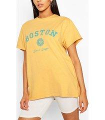 tall 'boston' oversized t-shirt, yellow