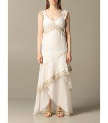 blumarine dress long blumarine dress with fringes