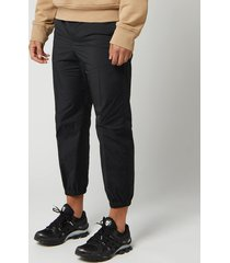 neil barrett men's matte nylon pants - black - l