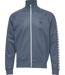taped track jacket sweat-shirt tröja blå fred perry