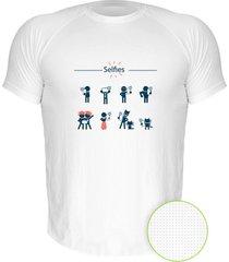 camiseta manga curta nerderia selfies branco - branco - masculino - dafiti