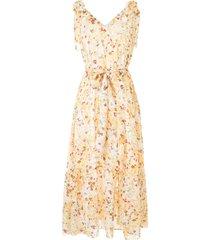 bambah triangle floral print maxi dress - yellow