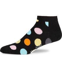 happy socks men's big dot low socks - black