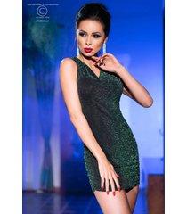 * chilirose jurkje met groen glinsterend effect (s/m)