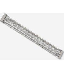 *rhinestone chain bracelet - clear