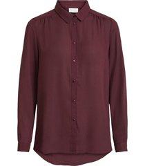 lilla vila vilucy l/s button shirt bluser