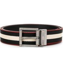 bally stripe design belt - black