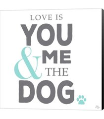 you me and the dog by kimberly glover canvas art