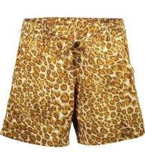 kort broekje leopard bruin
