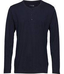 shirt 1/1 t-shirts long-sleeved blå schiesser