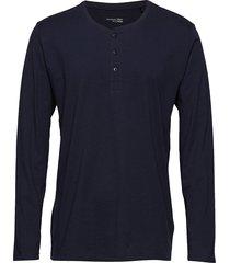 shirt 1/1 pyjamas blå schiesser