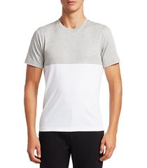 modern cotton colorblock t-shirt