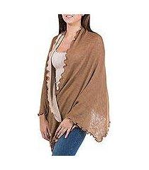 100% alpaca shawl, 'ruffle silhouette' (peru)