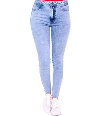 jeans tipo jeggings azul efesis