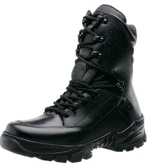 bota coturno militar tática airsoft paintball advent mithos-preto brilho