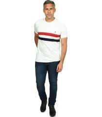 camiseta cuello redondo smith blanco para hombre