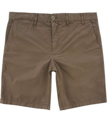 norse projects aros light twill shorts - ivy green n35-0237