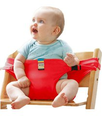 chair portable seat dining lunch chair seat safety belt stretch wrap feeding