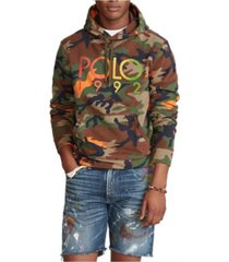 polo ralph lauren men's logo camo fleece hoodie