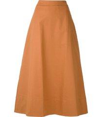 eva bromélia midi skirt - brown
