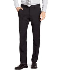 men's bonobos jetsetter slim fit flat front stretch wool dress pants, size 32 x unhemmed - black