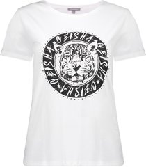 "geisha 12085-25 010 t-shirt ""leopard"" round circle s/s off-white"
