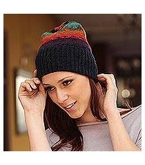 100% alpaca hat, 'andean twilight' (peru)
