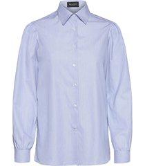 8753 - loreto overhemd met lange mouwen blauw sand