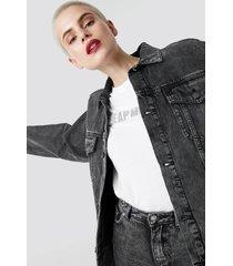 cheap monday zone jacket no slash black - black
