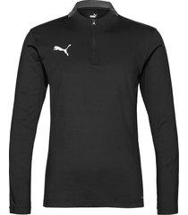ftblplay 1/4 zip top sweat-shirt tröja svart puma