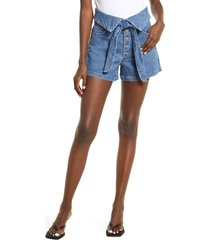 le jean lola foldover high waist shorts, size 28 in carnival at nordstrom
