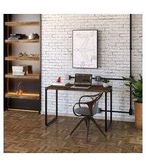 mesa de escritório kuadra marrom escuro 120 cm