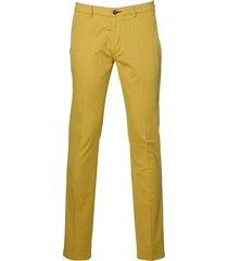 sale - jac hensen pantalon - modern fit - geel