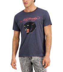 ed hardy men's retro panther logo graphic t-shirt