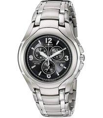 citizen men's eco-drive titanium bracelet chronograph watch