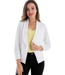 blazer mangas recogidas blanco nicopoly