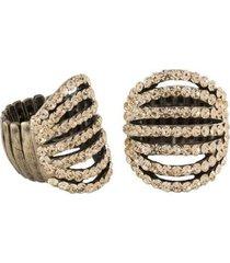 anel armazem rr bijoux cristais - feminino