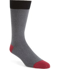 men's ted baker london joaquim solid socks, size one size - black