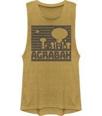 disney juniors' princesses simple agrabah festival muscle tank top
