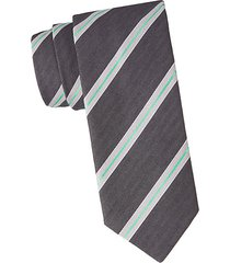 diagonal stripe wool & silk tie