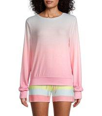 wildfox women's guava ombre sweatshirt - guava ombre - size s