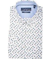 bos bright blue korte mouw blouse 106670/747