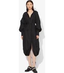 proenza schouler cotton voile puff sleeve dress black 2
